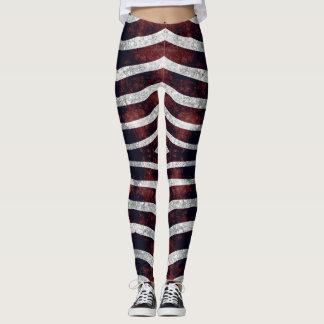 Legging Caneleiras vermelhas da zebra #1 Vitaleg