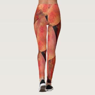 Legging caneleiras vermelhas de mármore originais na moda