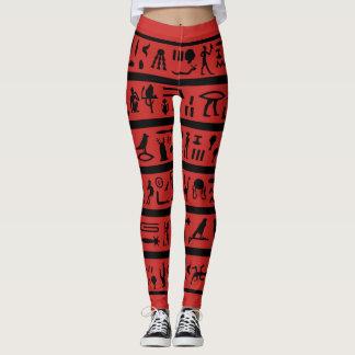 Legging Caneleiras vermelhas dos Hieroglyphics