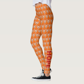 Legging Caneleiras vermelhas e alaranjadas do costume da