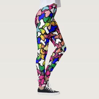 Legging Caneleiras vibrantes trémulos dos azulejos