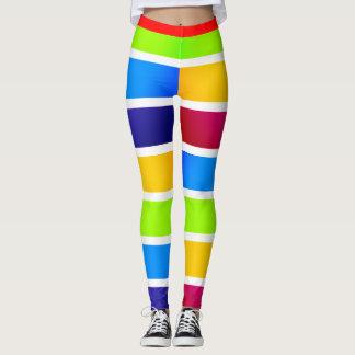 Legging Carnaval colorido Carnival-esque2 das bandas