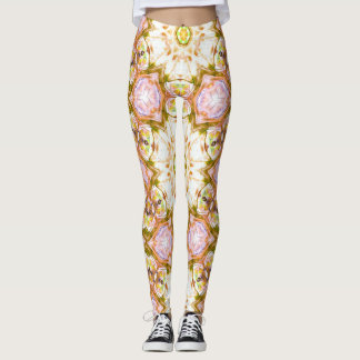Legging Chakra inspirou o design do rosa & do ouro