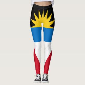 Legging Cheio da bandeira de Antígua