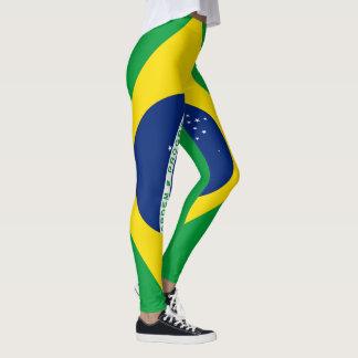 Legging Cheio da bandeira de Brasil