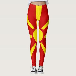Legging Cheio da bandeira de Macedónia