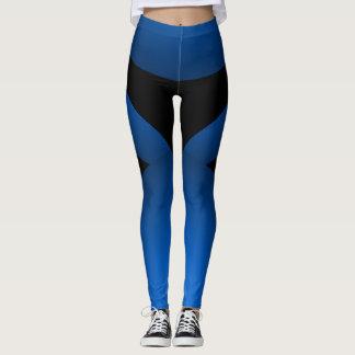 Legging Chique desportivo do preto azul que Slimming