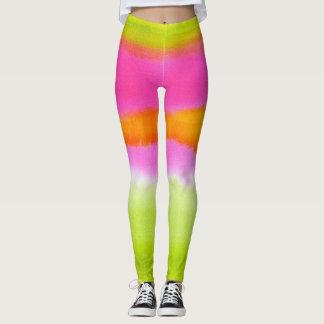 Legging Chique verde cor-de-rosa de néon do hipster do