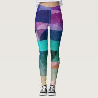 Legging Círculo colorido abstrato geométrico textured