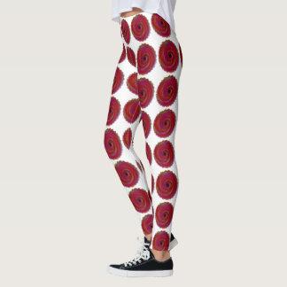 Legging Circunda caneleiras à moda elegantes vermelhas do