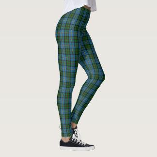 Legging Clã escocês MacLeod do Tartan do verde azul de