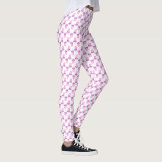 Legging Coelhos cor-de-rosa • Impressão do