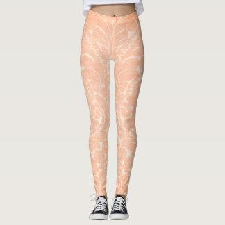 Legging Cor damasco à moda elegante