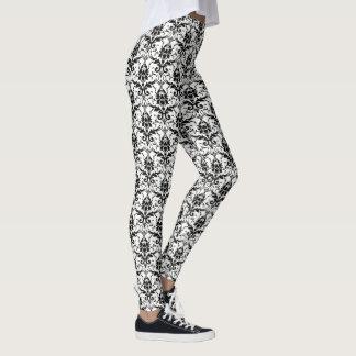 Legging Cor damasco gótico preto e branco do DIA DAS