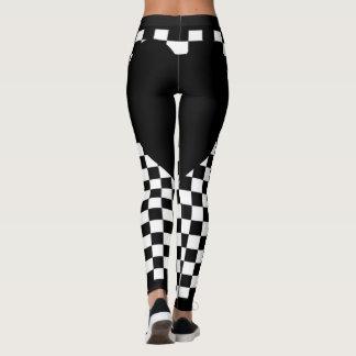Legging Coração Checkered preto
