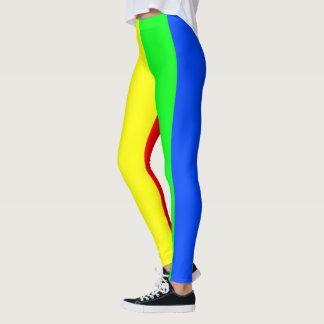 Legging Cores do arco-íris, listras impressionantes