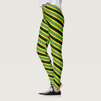 Legging Cores jamaicanas de espiralamento