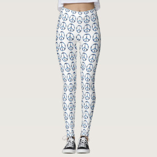 Legging Costume legal do branco do sinal de paz