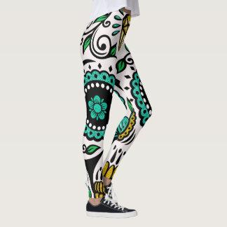 Legging Crânio colorido de FloralSugar