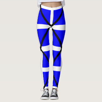 Legging Cruz branca azul de Mike