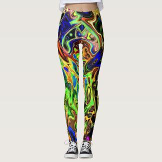Legging Curvas coloridas caóticas