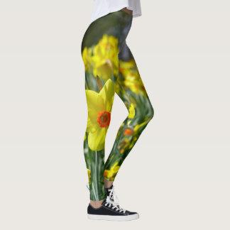 Legging Daffodils amarelos alaranjado 01.0.