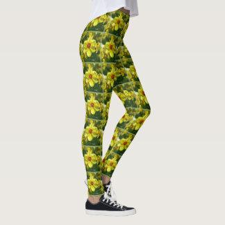 Legging Daffodils amarelos alaranjado 02.1g