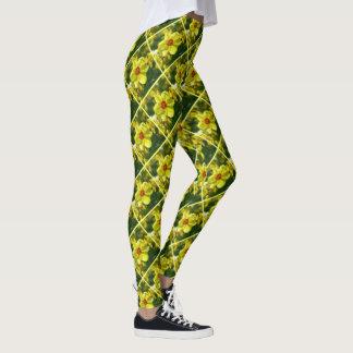 Legging Daffodils amarelos alaranjado 02.2y