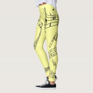 Legging ~ das notas musicais do ~ do Trombone do ~ do
