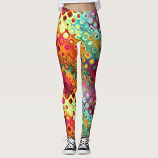 Legging Daydreams coloridos do abstrato