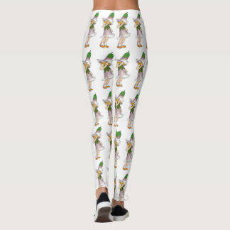 Legging Desenhos animados florais da genciana bonito das
