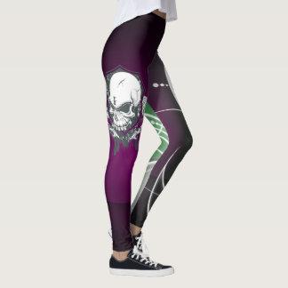 Legging Design abstrato do crânio