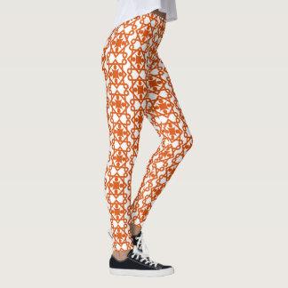Legging Design alaranjado do abstrato do vintage