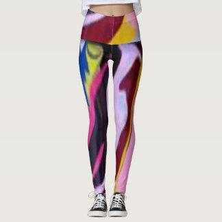 Legging Design colorido caneleiras