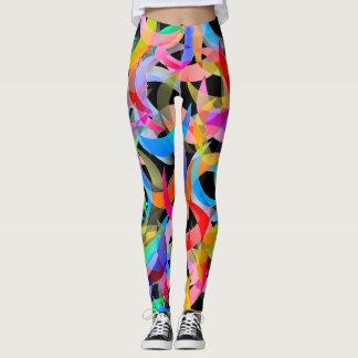 Legging Design crescente colorido em caneleiras