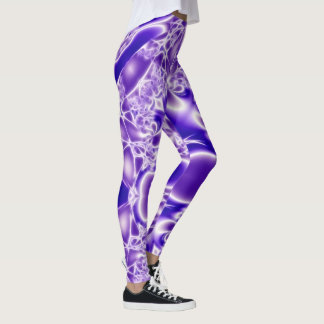 Legging Design de cristal roxo abstrato