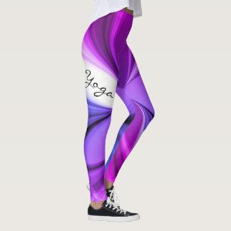 Legging Design de mármore roxo da ioga da aguarela