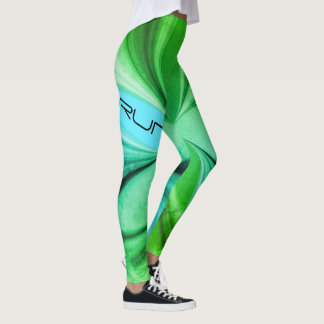 Legging Design de mármore verde do corredor da corrida da