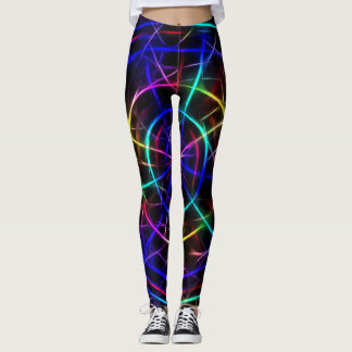 Legging Design de néon mágico do radar