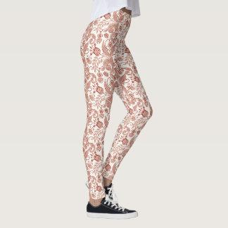 Legging Design floral da videira do indiano do leste do