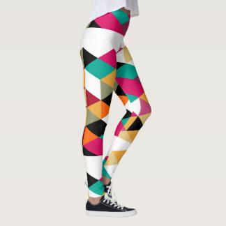 Legging Design geométrico colorido moderno
