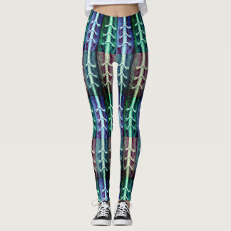 Legging Design industrial do abstrato das cores do