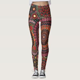 Legging Design psicadélico da mandala
