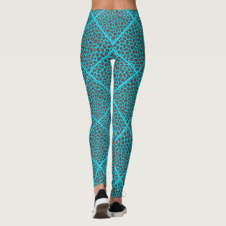 Legging Dos diamantes modernos do mosaico de turquesa