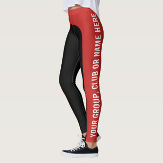 Legging Duas cor Caneleiras nomeadas Customisable