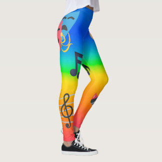 Legging Emojis artístico colorido
