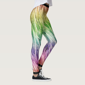 Legging Emu de Lite do arco-íris emplumado