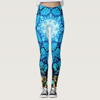 Legging Energia azul brilhante
