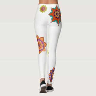 Legging Engrenagem colorida da ioga das mandalas das