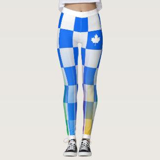 Legging Escolha SEU arco-íris canadense do verificador do